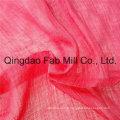Rouge 100% tissu de crêpe de tissu Ramie (QF16-2526)