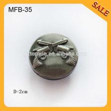 MFB35 botones personalizados botón botones de diseño clásico del metal botón