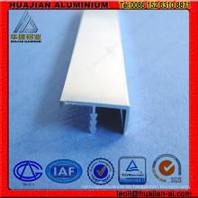 Perfil de aluminio anodizado y chorreado de arena para muebles