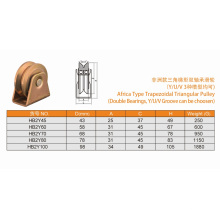 Hot Africa Type Sliding Gate Roller Pulley with Double Bearings