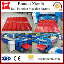 Good Quality for European Type Glazed Tile Roll Forming Machine for Sale Sheet Roof Corrugated Tile Iron Roll Forming Machine supply to Nicaragua Manufacturers