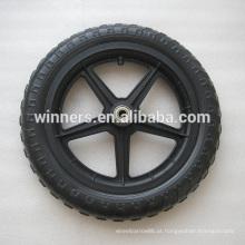 Roda plástica da bicicleta de 12 polegadas / roda de carrinho de criança / roda plástica do eva