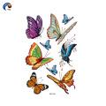 Colorido em personalizar a etiqueta do corpo para o garoto de estilo borboleta