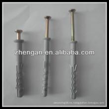 Tornillos de acero con tornillo de plástico