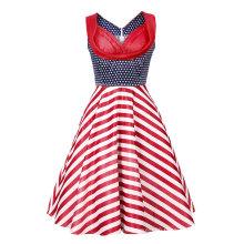 50s Women Vintage Evening Party Sleeveless Dress