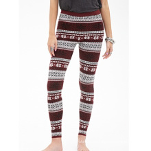Fair Isle Patterned Leggings mit elastischer Taille