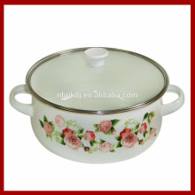 enamel seafood pot with glass lids of customzing