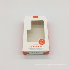 Ventana de PVC transparente Caja de regalo de papel personalizado