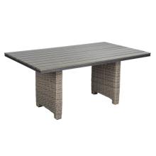 Tabela de mobília ao ar livre do pátio conjunto jardim de vime do Rattan