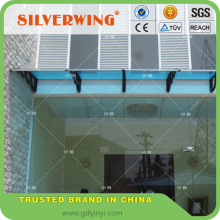 DIY plastic balcony awnings wind resistant canopy awnings material for door rain cover