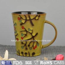 Color Glazed Ceramic Souvenir Coffee Mug