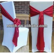 Ornate satin chair sash for wedding and banquet