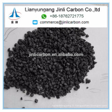 Chine Jinli carbone S 0.5% 1-5mm calciné pétrole coke calciné pet coke carbone additif