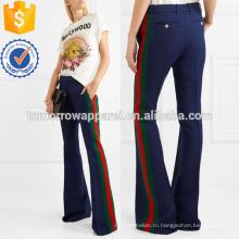 Полоску шерсть и шелк-смесь Кэди Расклешенные P_ants Производство Оптовая продажа женской одежды (TA3031P)