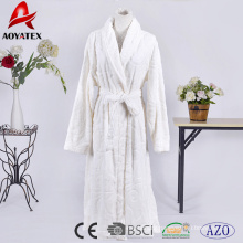 sexy hot night gown sleepwear robe embossed flannel fleece bathrobe