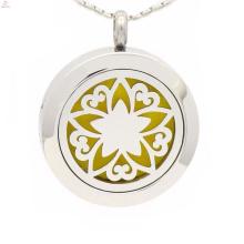 Nouveau médaillon de parfum de fleur de vie, collier de diffuseur d'huiles essentielles, pendentif d'aromathérapie