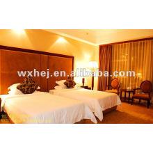 100% Baumwolle weiße Queen-Size-Bettlaken 300 TC Baumwolle Bettwäsche für Hotel eingestellt