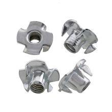 carbon steel zinc plain  t-slot nut Four jaw nut din1624 YJT3002 T-nut  for wood furniture