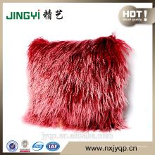 2016 véritable agneau mongol en peau de mouton fourrure housse de coussin