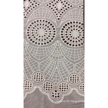 White Owl Cotton Embroider Fabric