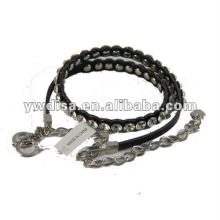 New Style Narrow Rhinestones Leather Belt For Woman