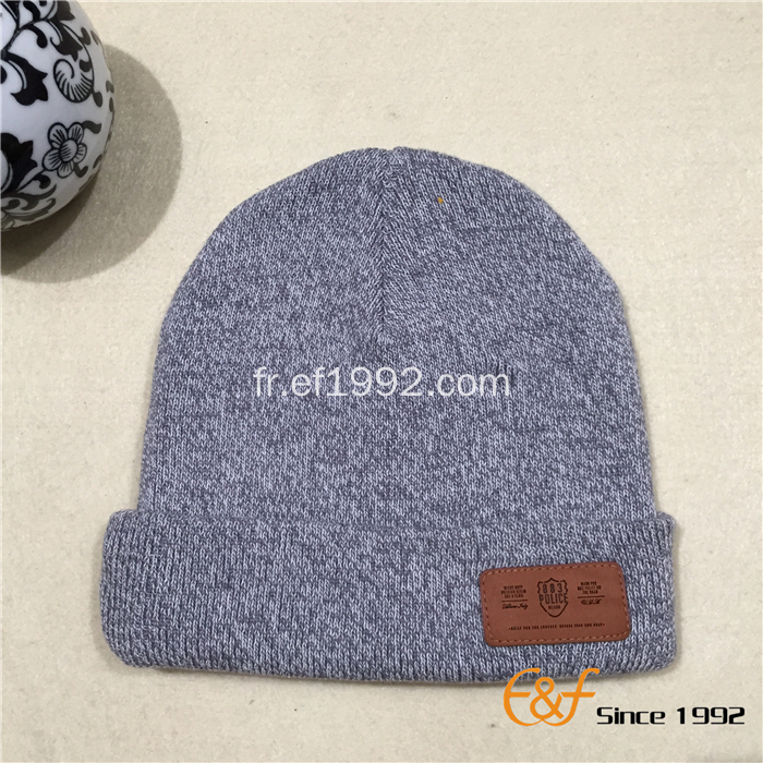 Toile de coton blanc Double couche Knitted Beanie