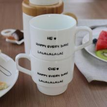 Cute Mini Ceramic Couples Coffee Mugs Cups