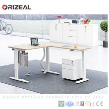 Función propia segura Altura ajustable del convertidor del escritorio de la altura eléctrica ajustable pierna de la tabla con memoria