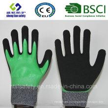Порезов безопасности перчатки с Сэнди Нитрил покрытием перчатки безопасности