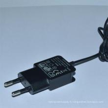 Adaptateur d'alimentation de commutation de l'adaptateur de chargeur de téléphone portable 5V1a2a