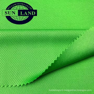 Tissu en mesh de haute qualité respirant à séchage rapide 100% polyester avec un chiffon sport