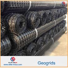 Polypropylène en plastique PP HDPE Polyester Fibre de verre Biaxial Uniaxial Geogrid