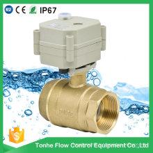"""1 1/4 """"Inch Dn32 Actionneur électrique en laiton Water Water Motorized Ball Valve"""