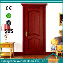 Porte de placage en bois pour la salle familiale avec le verre (WDHO55)