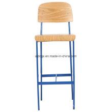 Silla del ocio alta hierro taburete silla de madera