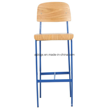 Iron Stool Wooden Chair High Leisure Chair