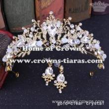 Unique Crystal Wedding Tiaras And Earrings
