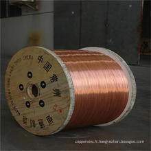Fil d'acier plaqué de cuivre d'acier inoxydable de 0.10mm-4.0mm CCS