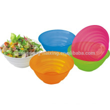 Material de los PP redondo comida y ensalada de vegetales grado cubierta de plástico transparente con tapa