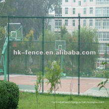 galvanized or PVC coated Chain Link wire Fence for playground or garden