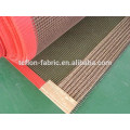 PTFE teflón recubierto de fibra de vidrio tejido malla cinta transportadora, borde reforzado