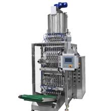 Máquina automática de embalagem de líquidos para saquetas de várias pistas