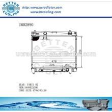 Radiador De Aluminio Para TOYOTA YARIS 07 1640021300 Fabricante y Venta Directa