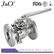 Válvula de bola de 2 pines con brida con cojín de montaje ASME 300 lbs
