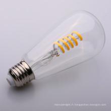 Ampoule de filament de clair / ambre Globe Dimmable 4w forme ronde molle LED ST64