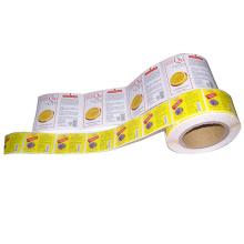 High Quality Design Custom Adhesive Paper Printing Roll Label Sticker