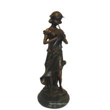 Музыкальный Декор Латунь Статуя Флейте Фея Ремесла Бронзовая Скульптура Т-958
