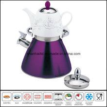 Double Whistle Kettle with Ceramic Teakettle Samovar Tea Set