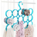 Four rows Plastic Circles  Hanger for Clothes and Scarf