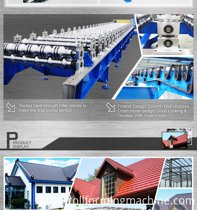 Metal steel roofing roller machine
